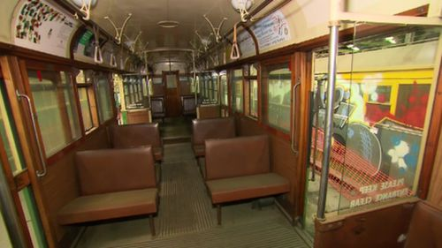 W-class trams have commuter entry points in the centre. (9NEWS)