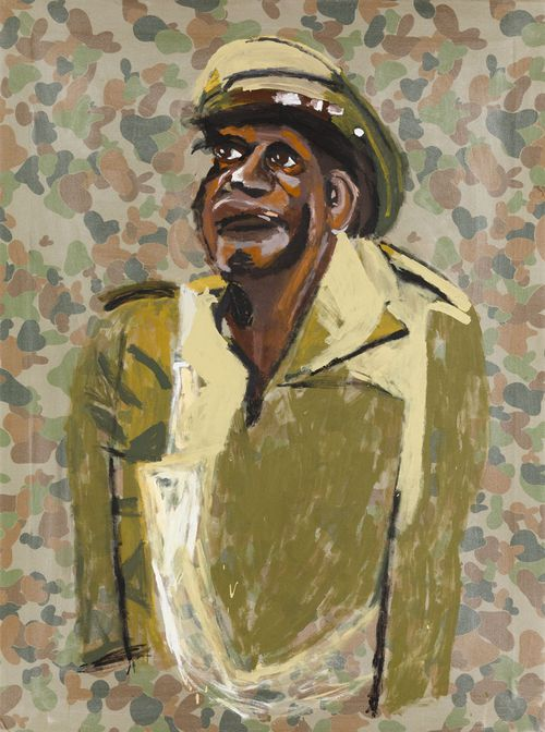 """""""Unknown Soldier"""" by Vincent Namatjira."""