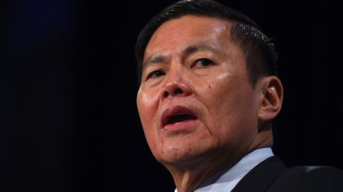 Optus chief executive Allen Lew announced the embarrassing situation today. Picture: AAP