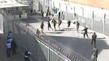 Confronting footage has emerged of inmates being gassed by prison officers.