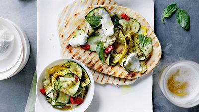 "<a href=""http://kitchen.nine.com.au/2016/05/16/12/25/chargrilled-zucchini-and-mozzarella-piadine"" target=""_top"">Chargrilled zucchini and mozzarella piadine<br> </a>"