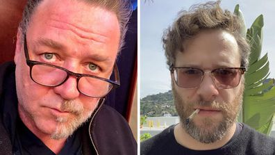 Russell Crowe and Seth Rogen