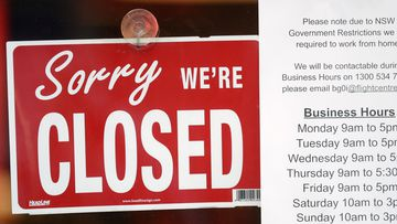 A commercial business is closed in Sydney
