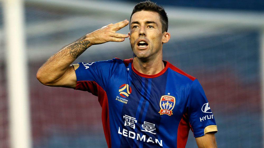 Newcastle Jets beat  Brisbane Roar to stay second in A-League