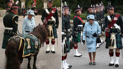 Queen Elizabeth arrives at Balmoral Castle, August 2019