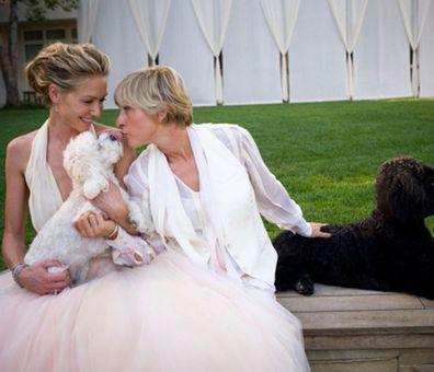 Portia de Rossi and Ellen DeGeneres wedding