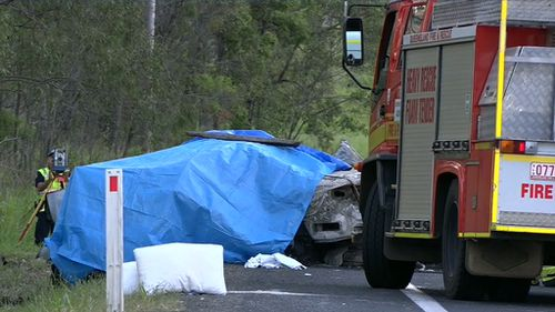 Two people died at the scene. (9NEWS)