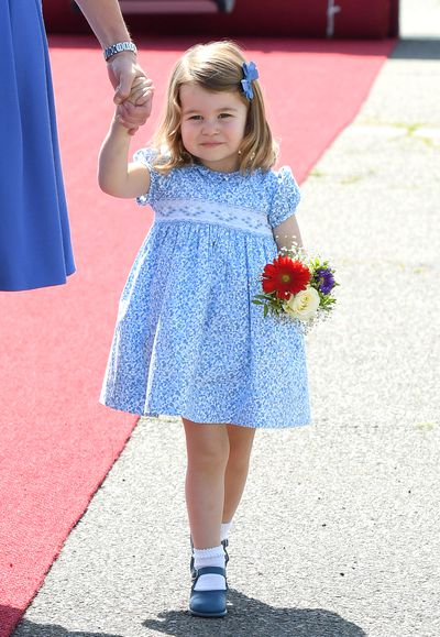 "<p>At just three years old Princess Charlotte's collection of dresses is enough to rival the wardrobe of most grown-up fashionistas.</p> <p>The young royal's outfits already pack such a punch that they're sold out within days of appearing on the young royal, much like <a href=""http://https://style.nine.com.au/2018/04/10/12/58/kate-middleton-pregnancy-style"" target=""_blank"" title=""her mother"" draggable=""false"">her mother</a>, Duchess of Cambridge <a href=""https://style.nine.com.au/2018/07/16/13/17/kate-middleton-stylish-wimbledon-outfits"" target=""_blank"" title=""Kate Middleton"" draggable=""false"">Kate Middleton</a>.</p> <p>Midddleton's penchant for dressing the toddler in smocked floral dresses is second to none. From official duties in Poland last year to her little brother Prince Louis' christening in July, this look is becoming her signature style.</p> <p>While she looks adorable in frocks, it's hard not to notice the Princess has never been seen in pants. According to royal expert Marlene Koenig, there is a good reason for this. </p> <p>It all comes down to tradition.</p> <p>""If you look at photos of young royal girls – from Princess Anne to Princess Charlotte, you will notice that they tend to wear smocked dresses as little girls when they are in public with their parents –a clean, traditional look,"" she told <em>Hello Magazine</em>.</p> <p>""If the Duchess is in a dress in public and Charlotte is with her, at this age, she will be in a dress – also in formal portraits, on the balcony for the Trooping of the Colour.""</p> <p>We're pretty sure that things are more relaxed behind the scenes at home though, but even so, the dresses Charlotte is sporting are enough for any young girl to feel royal.</p> <p>Click though to see our collection of Princess Charlotte-inspired dresses for your own little lady.</p>"