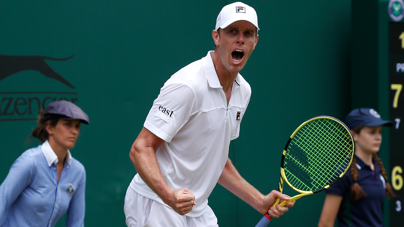 Sam Querrey fires up at Wimbledon heckler in third round win over John Millman