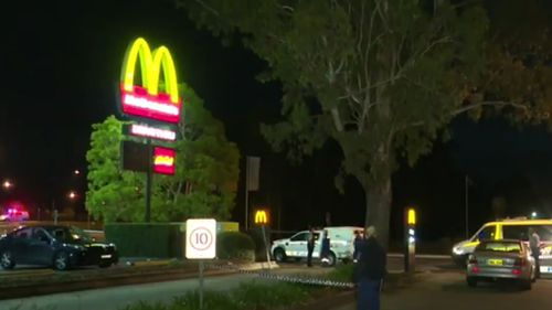The fight started in a McDonald's carpark in Sydney's south-west. (9NEWS)