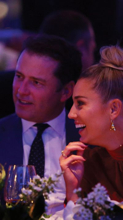 <p><em>Today </em>show host Karl Stefanovic skipped the photo wall to head straight to his front row seat at David Jones's spring/summer 2017 launch, with girlfriend Yasmine Yarbrough.</p>