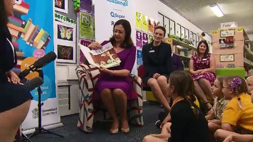 Volunteers could soon flood Queensland schools to read to children under a new state literacy program. Picture: 9NEWS.