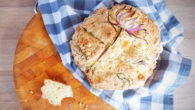 Quarantine Kitchen does decorated no-knead soda bread