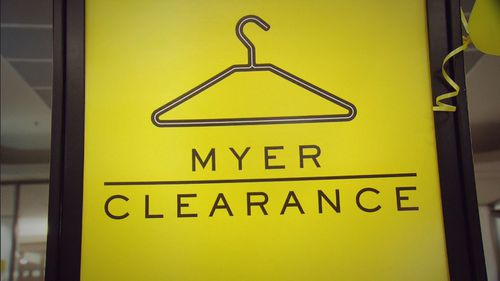 Myer's clearance floors are a new tactic.