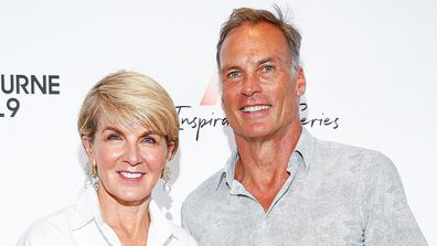 Julie Bishop with partner David Patton.