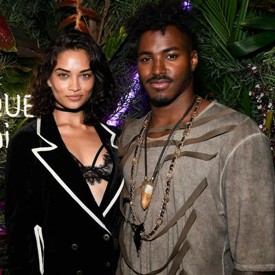"Shanina Shaik and Greg ""DJ Ruckus"" Andrews"