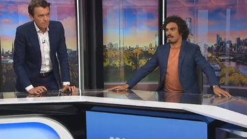 Footage from ABC News showed presenters Michael Rowland and Tony Armstrong in a state of confusion as their studio shook.