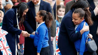 Young fan's tender encounter with Meghan Markle