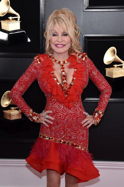Dolly Parton, Grammy Awards, Staples Center, February 10, 2019, Los Angeles