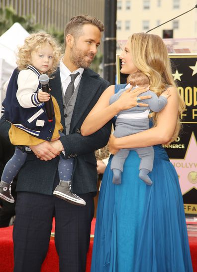 Blake Lively, Ryan Reynolds, daughters, James, Inez, Hollywood Walk of Fame
