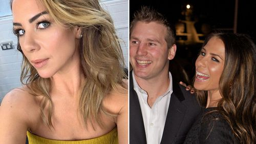 Kate Ritchie (l), and Ritchie and Stuart Webb in 2011 (r).