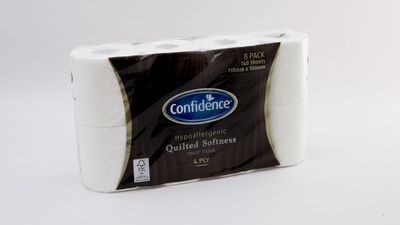 #7 Aldi Confidence Hypoallergenic Quilted Softness Toilet Tissue, $3.99; 8 pack, 4 ply