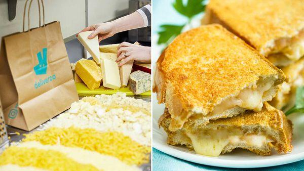 Deliveroo 40 cheese toastie