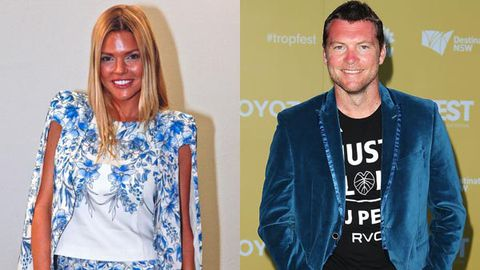 It's on! Sophie Monk awkwardly confirms she's dating Sam Worthington