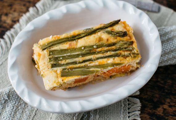 Zucchini and sweet potato vegetable slice