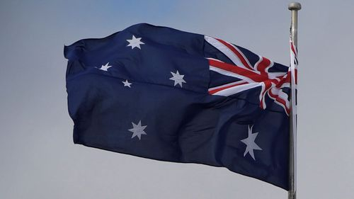 Search for first ever Australian flag