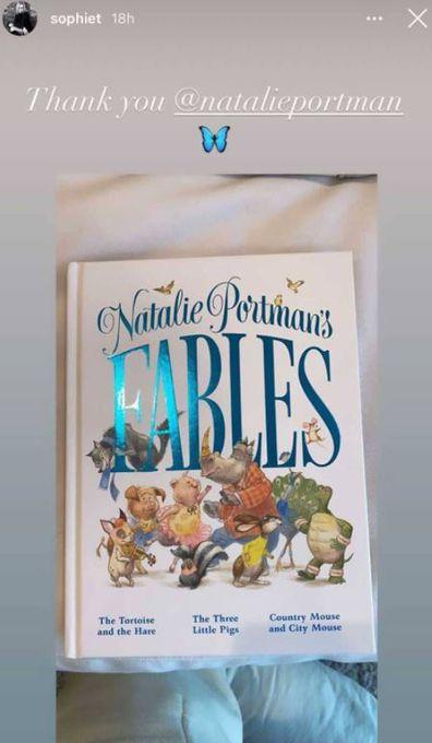 Sophie Turner, Natalie, children's book, present, daughter Willa