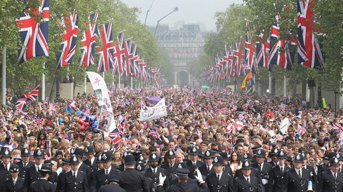 The crowds at Harry and Meghan's wedding are expected to outshine the ones that attended his older brother's.