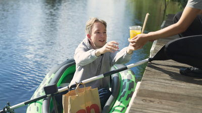FYI, there is a Riverside McDonald's and it has a 'float-thru' option
