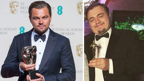 Roman Burtsaev has risen to fame with his similar appearance to Leonardo DiCaprio. (Getty/Instagram)
