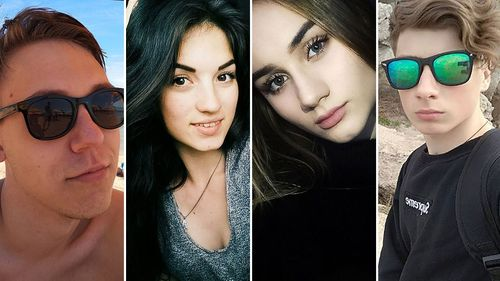 Some of the victims in the massacre: Roman Karymov, Anna Zhuravlyova, Alina Kerova and Nikita Florensky.