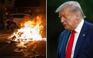 Donald Trump blames media for 'hatred and anarchy' as advisors divided on response to George Floyd riots