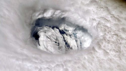 Hurricane Dorian's eye taken by NASA astronaut Nick Hague, from aboard the International Space Station.