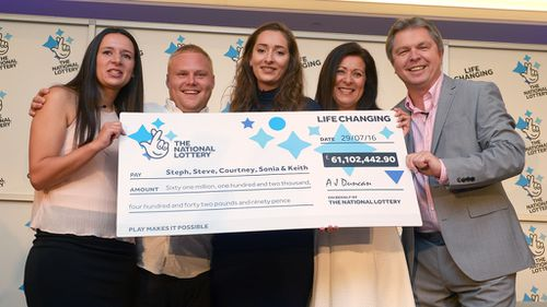 Woman 'feeling lucky' after successful cancer operation tells daughter to buy winning £61m lottery ticket