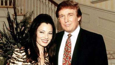 Fran Drescher and Donald Trump.