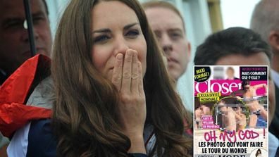 A French magazine published photos of Duchess Kate Middleton sunbaking topless while on holiday with Prince William.