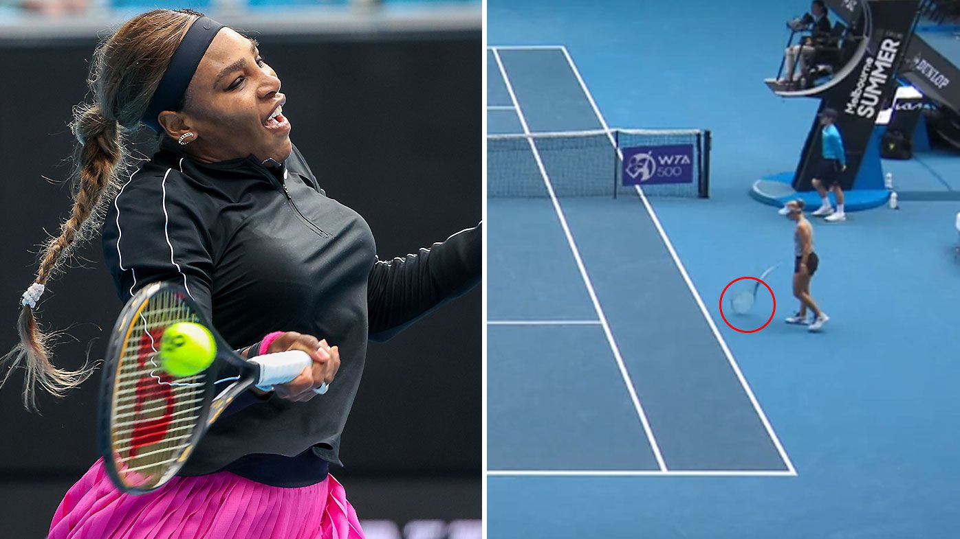 Fired-up Serena Williams overcomes Daria Gavrilova after first-set blow-up
