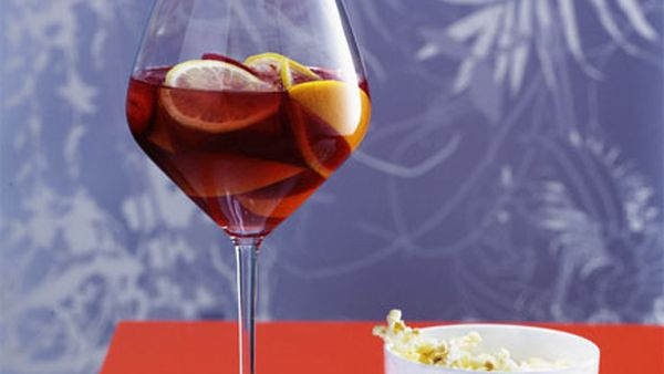 Strawberry, Cognac and White Wine Sangria