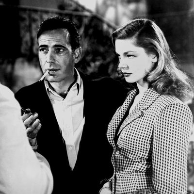 <p>Humphrey Bogart and Lauren Bacall in <em>To Have and Have Not</em> </p><p><strong>Age gap:</strong> 24 years, 3 months</p>