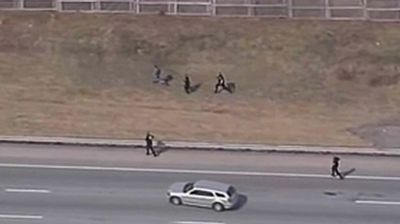 Click through for some thrilling police chases caught on tape - and some crooks caught on foot!