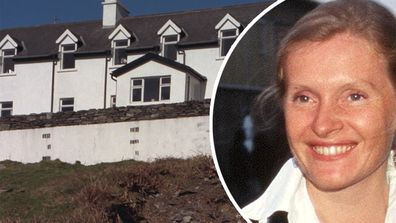 Sophie Toscan du Plantier and the holiday home where she was found murdered in West Cork.