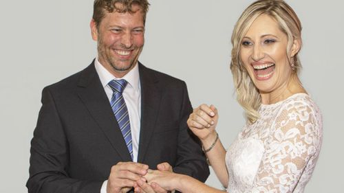 Elthea Pettersen, pictured with her husband Andrew, on their wedding day.