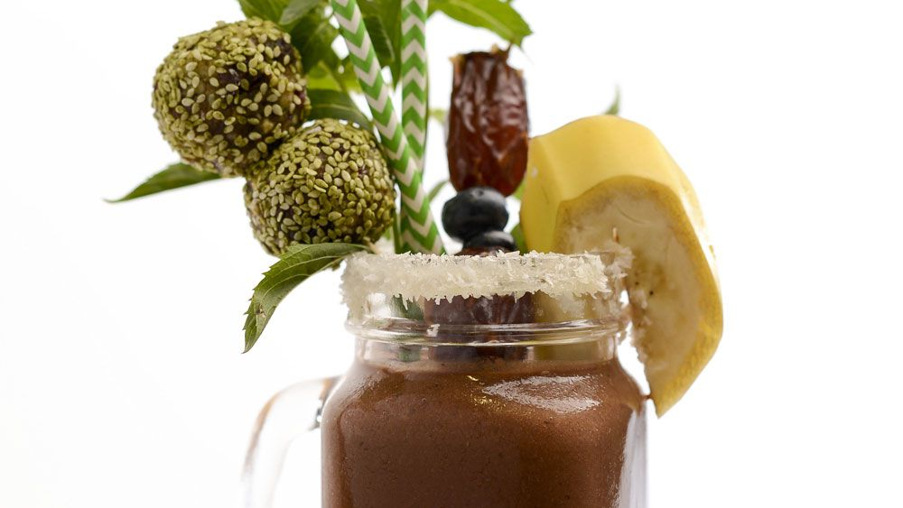 Tim Robards' pre-workout cacao protein smoothie