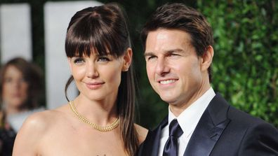 Tom Cruise and Katie Holmes in 2012 at the Vanity Fair party.