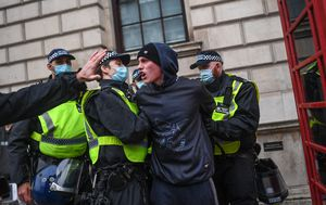 Scores of arrests as new restrictions spark protests in London