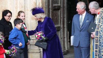 Prince Charles and Camilla at Westminster Abbey, 2019